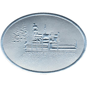 Silver Christmas Card Foil Seals - Paving