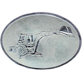 Silver Christmas Card Foil Seals - Backhoe