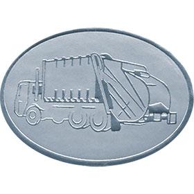 Silver Christmas Card Foil Seals - Disposal