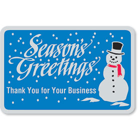 Foil Christmas Card Seals - Frosty Thank You