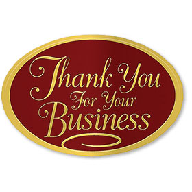 Foil Seal - Business Thank You