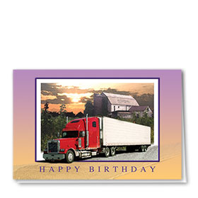 Trucker Birthday Cards - Country Birthday