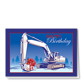 Construction Birthday Cards - Excavator Birthday