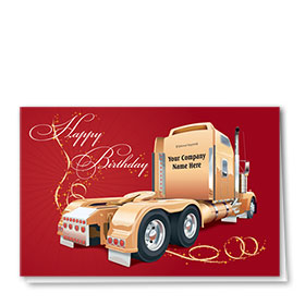 Trucking Christmas Greeting Cards - Sparkling Birthday