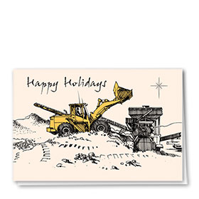 Construction Christmas Cards - Crushin' Good Christmas