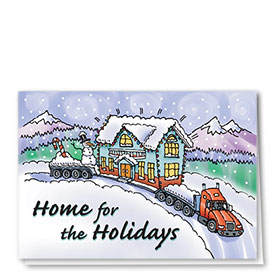 Trucking Christmas Cards - Home for the Holidays