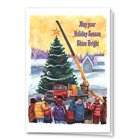 Construction Christmas Cards - Shine Bright