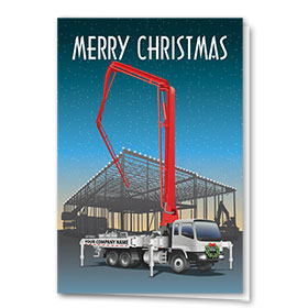 Construction Christmas Cards - Sunset Concrete