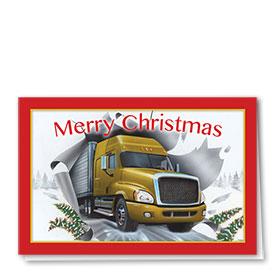 Trucking Christmas Cards - Breakthrough Truck