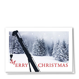 Construction Christmas Cards - Wintertime Crane