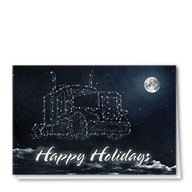 Trucking Christmas Greeting Cards - Constellation