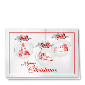 Construction Christmas Cards - Ornament Trio
