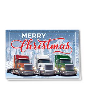 Trucking Christmas Cards - Christmas Trio