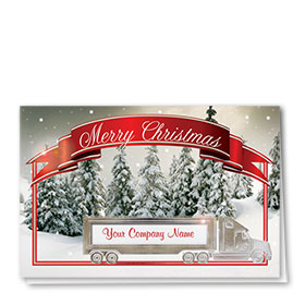 Construction Christmas Cards - Christmas Banner