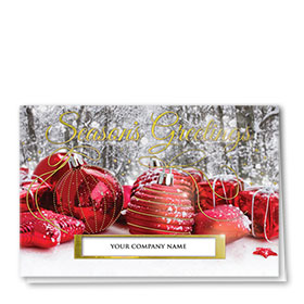 Personalized Premium Foil Holiday Card - Gilded Details