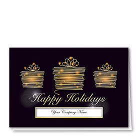 Premium Foil Traditional Christmas Cards - Gifts of Gold