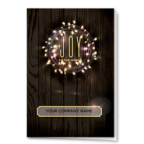 Personalized Premium Foil Holiday Card - Joyful Wreath