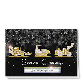 Premium Foil Construction Holiday Cards - Night Crew