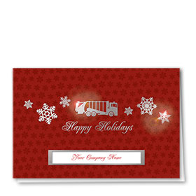 Premium Foil Construction Holiday Cards - Simple Silver Refuse