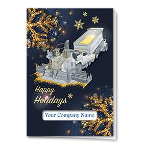 Premium Foil Construction Christmas Cards - Glimmering Paver