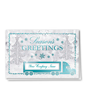 Premium Foil Traditional Christmas Cards - Crystal Snowflakes