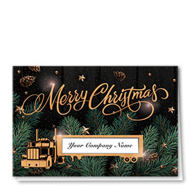Premium Foil Traditional Christmas Cards - Copper Christmas