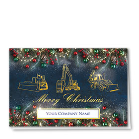 Premium Foil Traditional Christmas Cards - Festive Triad