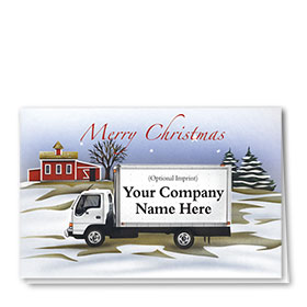 Trucking Christmas Greeting Cards - Rural Delivery