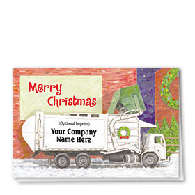Construction Christmas Cards - Holiday Dumpster