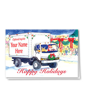 Trucking Christmas Cards - Rudolf Delivery