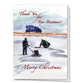 Construction Christmas Cards - Winter Jobsite