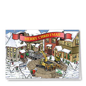 Construction Christmas Cards - Christmas Town