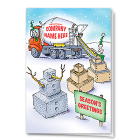 Construction Christmas Cards - Frosty Footings