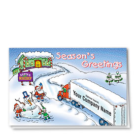 Trucking Christmas Cards - To Santa's Workshop