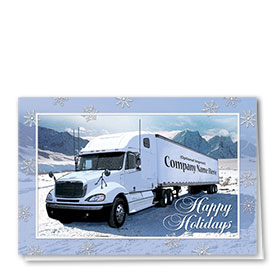 Trucking Christmas Cards - Snowy Haul