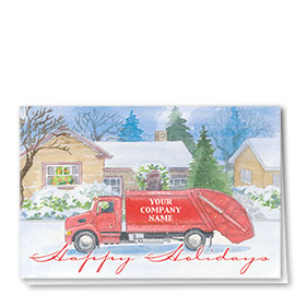 Construction Christmas Cards - Dependable Refuse