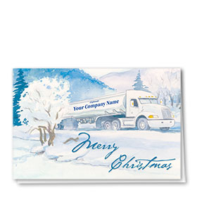 Trucking Christmas Cards - Tranquil Tanker