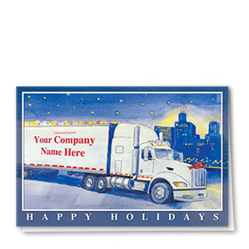 Trucking Christmas Greeting Cards - Urban Lights