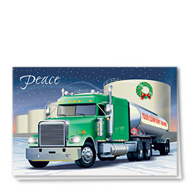 Trucking Christmas Cards - Goodwill Tanker