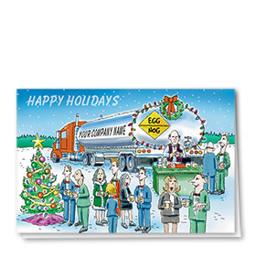 Trucking Christmas Cards - Tanker Party