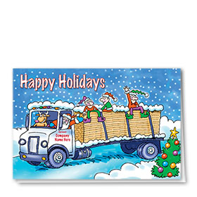 Construction Christmas Cards - Festive Lumber