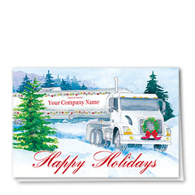 Trucking Christmas Cards - Cheerful Tanker