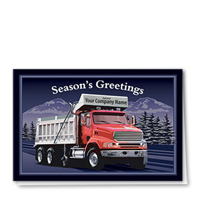Construction Christmas Cards - Hauling Nights