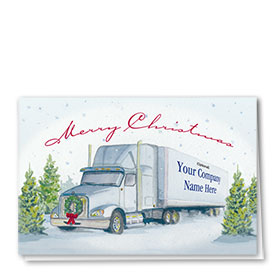 Trucking Christmas Cards - Serene Greetings