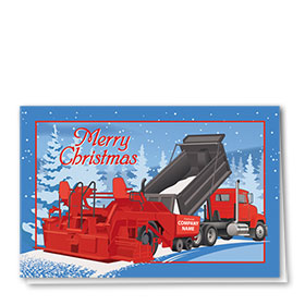Construction Christmas Cards - Paving Time
