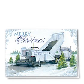Construction Christmas Cards - Wintery Paving