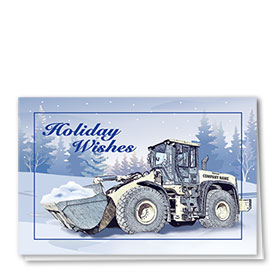 Construction Christmas Cards - Woodland Loader