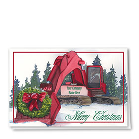 Holiday Card-Christmas Wreath