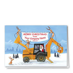 Construction Christmas Cards - Company Banner
