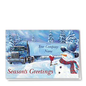 Holiday Card-Old Fashioned Snowman